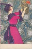 * T2 Lady With Dog. B. K. W. I. 621-1. S: Mela Koehler - Postcards