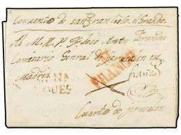 ESPAÑA: PREFILATELIA. 1835. FUENSALIDA A MADRID. Marca CA.NA/NOVES Y Manuscrito  ´FRANCO´... - Stamps