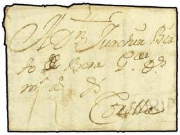 ESPAÑA: PREFILATELIA. 1755. EL LAVADERO A CORELLA. Marca Lineal SORIA (nº 17) En Negro. - Stamps