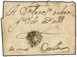 ESPAÑA: PREFILATELIA. (1730 CA.). Envuelta Circulada A CORELLA. Marca ZARA/GOZA (nº 2).... - Stamps