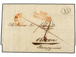 ESPAÑA: PREFILATELIA. 1842. ZARAGOZA A ARAGÓN. Marca ZARAGA./PORTE PAGADO/HASTA LA RAYA En... - Stamps