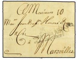 ESPAÑA: PREFILATELIA. 1731 (20-Mayo). BARCELONA A MARSELLA. Marca Estampada En Barcelona AFRANCHIE JUSQ /... - Stamps
