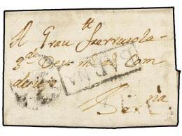 ESPAÑA: PREFILATELIA. 1742 (Julio). BERGA A BARCELONA. Marca Circular Del RECADERO ORTIZ... - Stamps