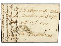 ESPAÑA: PREFILATELIA. 1772 (12 Mayo). CARTUJA DE SCALADEI (Priorato, Tarragona) A BARCELONA. Marca Del... - Stamps