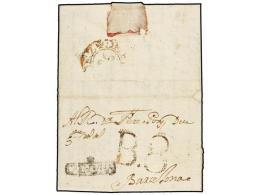 ESPAÑA: PREFILATELIA. 1774. VILAFRANCA A BARCELONA. Marca +/CATALUÑA (nº 1) Y Al... - Stamps