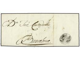 ESPAÑA: PREFILATELIA. 1807 (18-2). MATARÓ A BARCELONA. Al Dorso Marca Del RECADERO JC (Juan... - Stamps