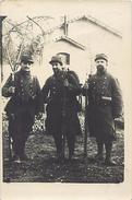 Ref U335- Guerre 1914-18- Carte Photo Militaires - Souvenir De La Guerre 1914-fait A Baccarat -meurthe Et Moselle  - - Baccarat
