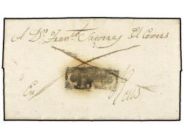 ESPAÑA: PREFILATELIA. 1817 (9 Enero). CEDO (Lérida) A REUS. Carta Completa Con El Porte Pagado (dos... - Stamps