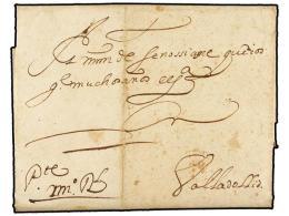ESPAÑA: PREFILATELIA. 1638 (5 Septiembre). VIANA (Navarra) A VALLADOLID. Carta Completa ´de... - Stamps