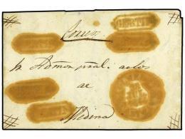 ESPAÑA: PREFILATELIA. 1844. OLMEDO A MEDINA. Carta Completa CERTIFICADA. Fechador OLMEDO/CAST. LA... - Stamps