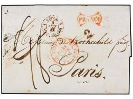 ESPAÑA: PREFILATELIA. 1842. CORUÑA A PARÍS. Fechador CORUÑA/GALICIA Y FRANCO... - Stamps