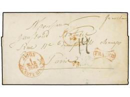 ESPAÑA: PREFILATELIA. 1848. GIJÓN A PARÍS. Fechador JIJÓN/ASTURIAS Y... - Stamps