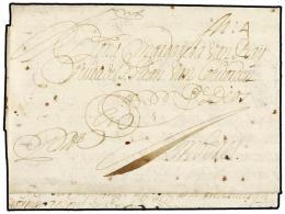 ESPAÑA: PREFILATELIA. 1678. SEVILLA A AMBERES. Carta Completa, Manuscrito ´ppdo´ Y Porte... - Stamps