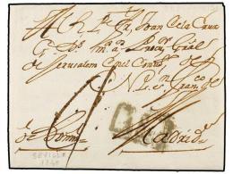 ESPAÑA: PREFILATELIA. 1740 (12 Julio). SEVILLA A MADRID. Marca DE SEVILL (nº 2) En Un Recuadro.... - Stamps