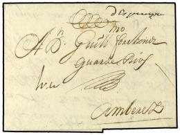 ESPAÑA: PREFILATELIA. 1693. CADIZ A AMBERES Escrita En Flamenco. Manuscrito... - Stamps