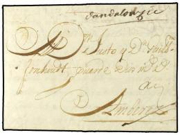 ESPAÑA: PREFILATELIA. 1705. CADIZ A AMBERES Escrita En Flamenco. Manuscrito... - Stamps