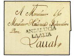 ESPAÑA: PREFILATELIA. 1758. PTO. DE STA. MARIA A FRANCIA. Marca ANDALUCIA/LA ALTA Del Puerto De Sta.... - Stamps
