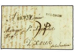ESPAÑA: PREFILATELIA. 1788. OLORON (Francia) A JEREZ. Marca OLORON Y Lineal PARIS Estampado En... - Stamps