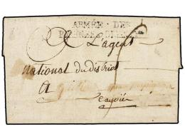 ESPAÑA: PREFILATELIA. 1794 (10 Agosto). EJÉRCITOS FRANCESES. ´AU CAMP DE CANTALLOPS... - Stamps