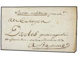 ESPAÑA: PREFILATELIA. 1795 (29 Junio). EJÉRCITOS FRANCESES. S. SEBASTIAN A FRANCIA. Carta En... - Stamps