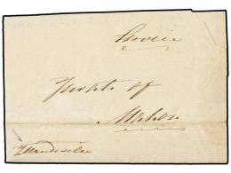 ESPAÑA: PREFILATELIA. 1800 (3 Octubre). EJÉRCITOS FRANCESES. MAHÓN Correo Interior.... - Stamps