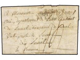 ESPAÑA: PREFILATELIA. 1808 (12 Marzo). EJÉRCITOS FRANCESES. ZAMORA A FRANCIA. Marca... - Stamps