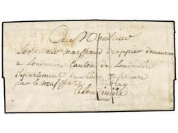 ESPAÑA: PREFILATELIA. 1808 (12 Abril). EJÉRCITOS FRANCESES. BADALONA A FRANCIA. Marca BAU.... - Stamps