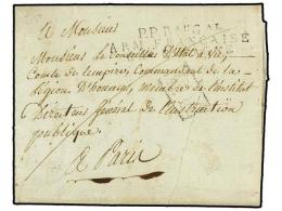 ESPAÑA: PREFILATELIA. 1809 (16 Julio). EJÉRCITOS FRANCESES. BAYONA  A PARÍS. Marca... - Stamps