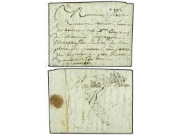 ESPAÑA: PREFILATELIA. 1809 (29 Sept.). JACA (Huesca). Carta Circulada De VOIRON En Francia Con El Porte... - Stamps