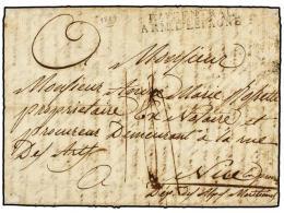 ESPAÑA: PREFILATELIA. 1809 (27 Junio). EJÉRCITOS FRANCESES. VALLADOLID A FRANCIA. Marca BAU... - Stamps