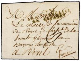 ESPAÑA: PREFILATELIA. 1810 (23 Abril). EJÉRCITOS FRANCESES. PAMPLONA A FRANCIA. Marca... - Stamps
