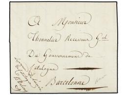 ESPAÑA: PREFILATELIA. 1810. BARCELONA Correo Interior, Marca De Franquicia ´Le Payeur De L´anne... - Stamps