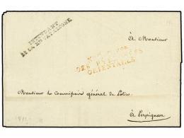 ESPAÑA: PREFILATELIA. 1811 (31 Agosto). EJÉRCITOS FRANCESES. GERONA A PERPIGNAN. Marcas De... - Stamps