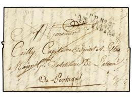 ESPAÑA: PREFILATELIA. 1811 (8 Agosto). EJÉRCITOS FRANCESES. CAEN (Francia) A Un Capitán... - Stamps