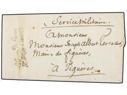ESPAÑA: PREFILATELIA. 1811. EJÉRCITOS FRANCESES. FIGUERAS Correo Interior. Marca De Franquicia... - Stamps