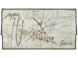ESPAÑA: PREFILATELIA. 1812. EJÉRCITOS FRANCESES. Carta Completa Dirigida A FRANCIA, Origen... - Stamps