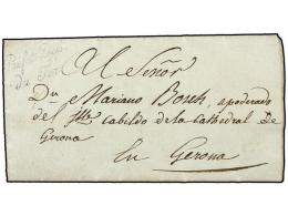 ESPAÑA: PREFILATELIA. 1813 (21 Junio). EJÉRCITOS FRANCESES. GIRONA Correo Interior. Marca De... - Stamps