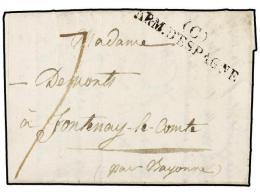 ESPAÑA: PREFILATELIA. 1823 (10 Junio). EJÉRCITOS FRANCESES. TRUJILLO A FRANCIA. Marca... - Stamps