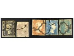 ° ESPAÑA. Ed.1/5. SERIE COMPLETA, Sellos De Buena Presencia Con Algún Defecto. Cat. 5.258€. - Stamps