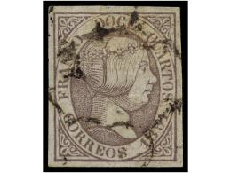 ° ESPAÑA. Ed.7. 12 Cuartos Lila. Muy Bonito Ejemplar. Cat. 265€. - Stamps