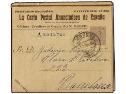 ESPAÑA ENTEROS POSTALES: DE INICIATIVA PRIVADA. 1904. LA CARTA POSTAL ANUNCIADORA. Serie Cuarta.... - Unclassified