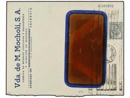 ESPAÑA ENTEROS POSTALES: DE INICIATIVA PRIVADA. Sobre Con Sello De 50 Cts. Pizarra De Cervantes Con... - Stamps