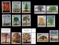 (007) Denmark (26-27) Colombia (18) Mocambique (38) Suisse  Plants / Trees / Flora / Arbres / Bäume  ** / Mnh - Danemark