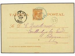PUERTO RICO. 1896. Entero Postal De 3 Cts. Castaño Rojo (Ed. 8) Circulado De SAN JUAN A... - Stamps