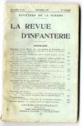 LA REVUE D INFANTERIE  MINISTERE DE LA GUERRE SEPTEMBRE N° 540 1937 PAGE 449 A 669  NOMBREUSES ILLUSTRATIONS  LAVAUZELLE - War 1914-18