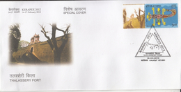 India  2012  Astrology  Scorpio  MyStamp  Thalassery Fort  CALICUT  Special Cover   #  94406  Inde  Indien - Astrology