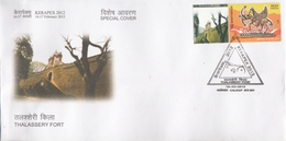 India  2012  Astrology  Sagittarius  MyStamp  Thalassery Fort  CALICUT  Special Cover   #  94403  Inde  Indien - Astrology