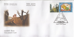 India  2012  Astrology  Taurus  MyStamp  Thalassery Fort  CALICUT  Special Cover   #  94405  Inde  Indien - Astrology