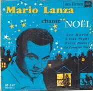 45 TOURS EP MARIO LANZA CHANTE NOEL AVE MARIA / SILENT NIGHT / PATER NOSTER / LE PREMIER NOEL RCA 86242 - Christmas Carols
