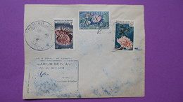 Nouvelle-Calédonie  N°  291 à 293 Série Coraux Et Poissons Aquarium De Nouméa   1959 Oblitéré - FDC